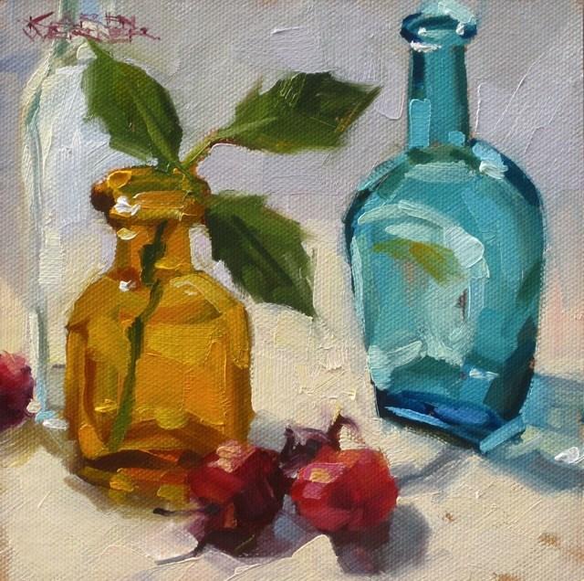 """""""Three Times Three"""" original fine art by Karen Werner"""