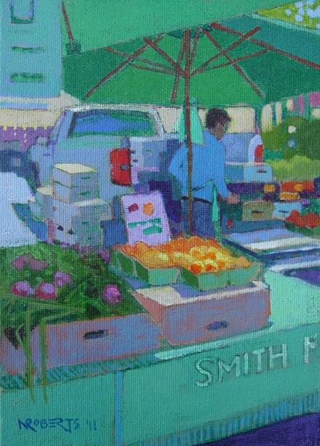 """Apricots"" original fine art by Nancy Roberts"