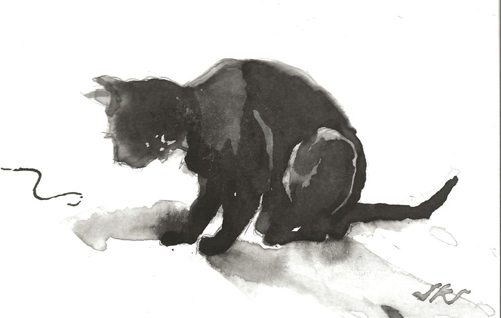 """Daily Cat 99"" original fine art by Jean Krueger"