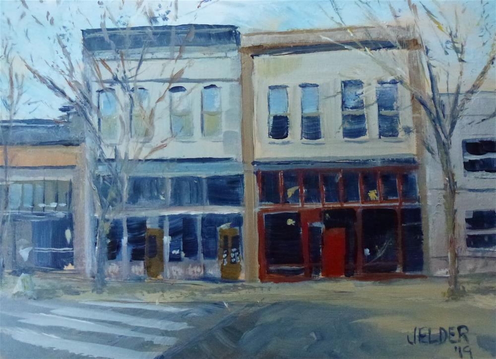 """Commercial St."" original fine art by Judith Elder"