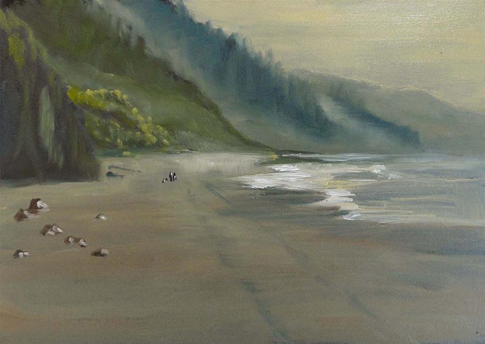 """Early Morning Walk"" original fine art by Cietha Wilson"