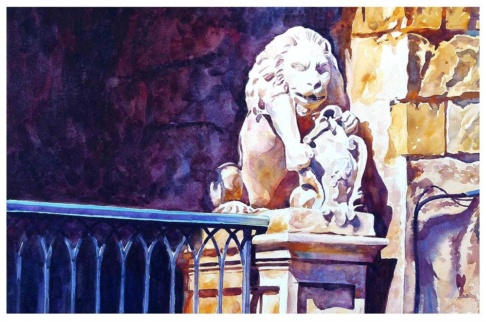 """Malta Lion."" original fine art by Graham Berry"