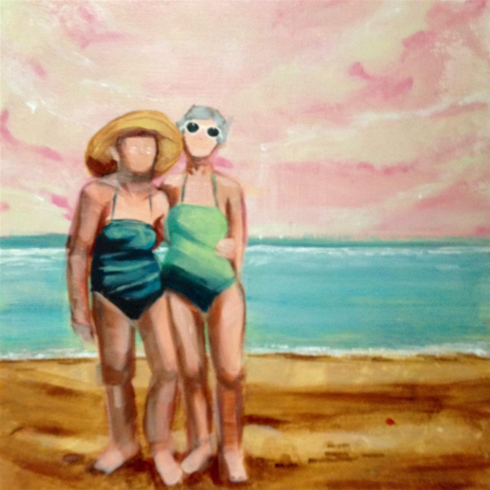 """BFFs at the Beach"" original fine art by Bev Thibault"
