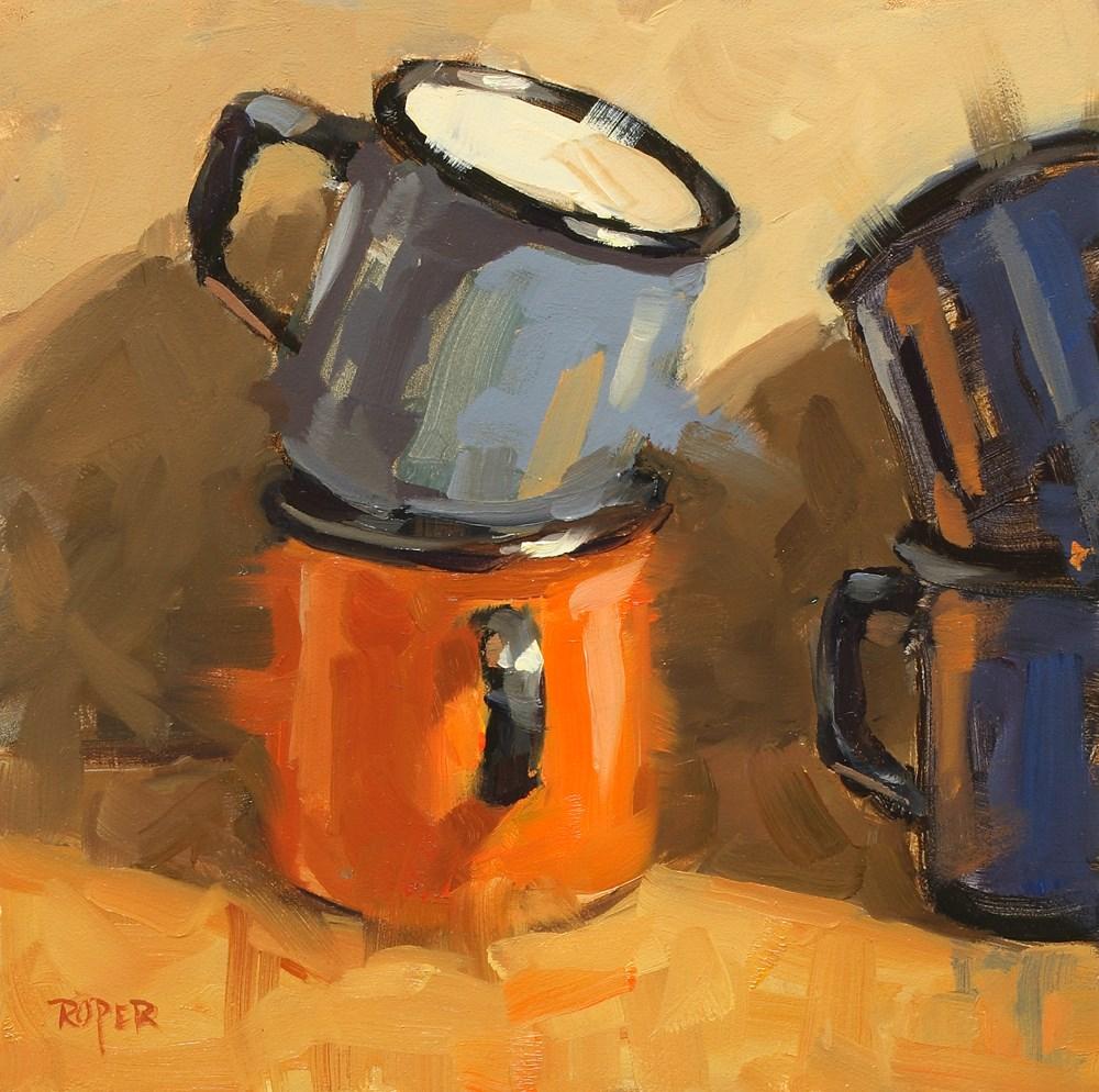 """Tin Cups"" original fine art by Stuart Roper"