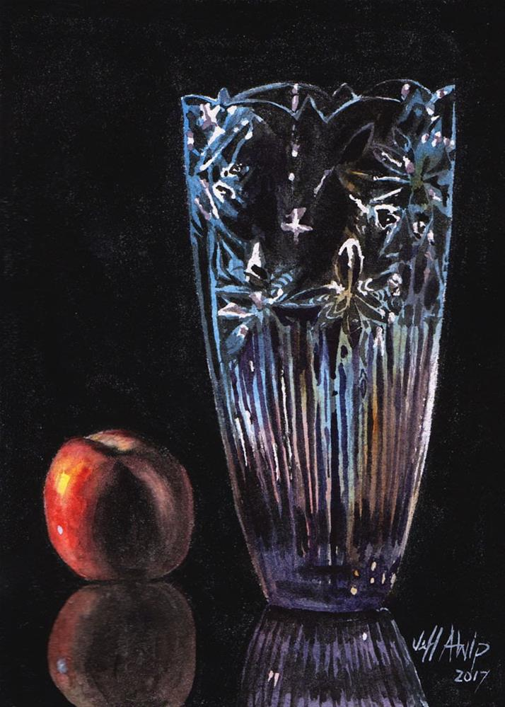 """Vase and Apple"" original fine art by Jeff Atnip"