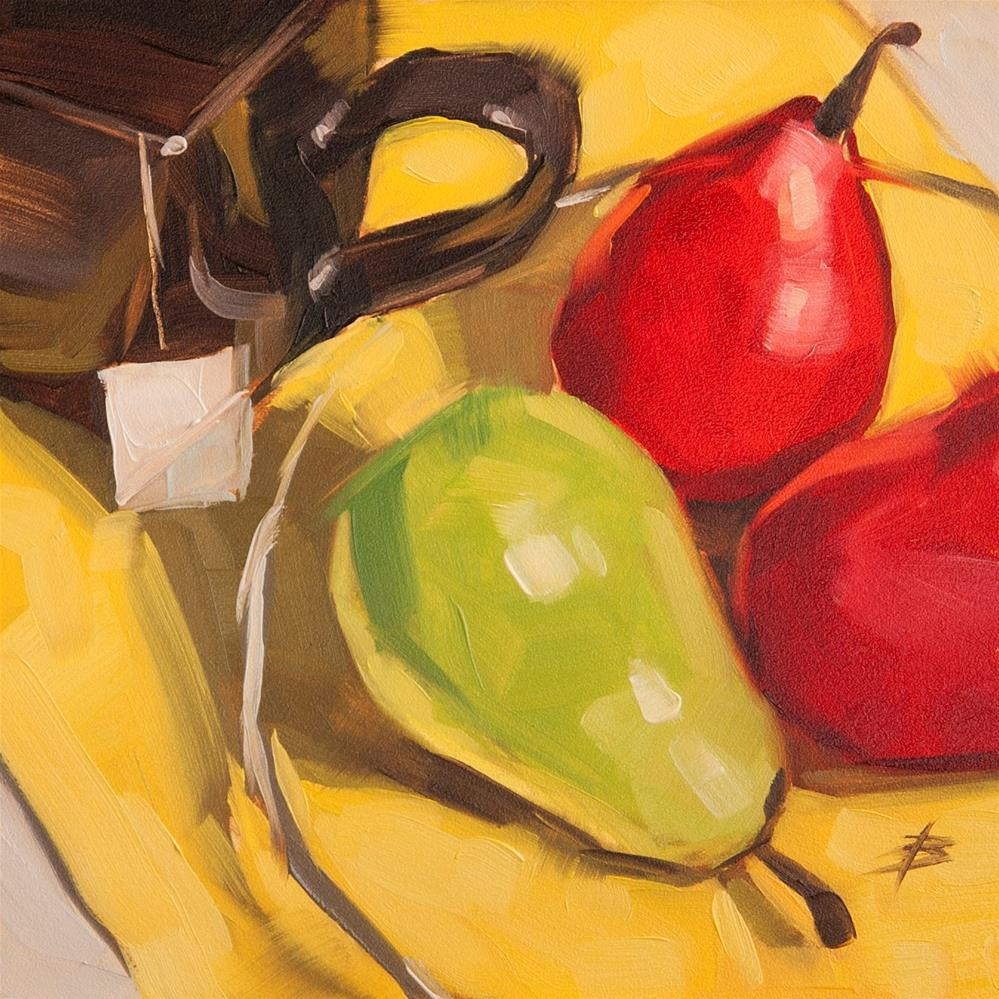 """Pears and Tea"" original fine art by David Bates"