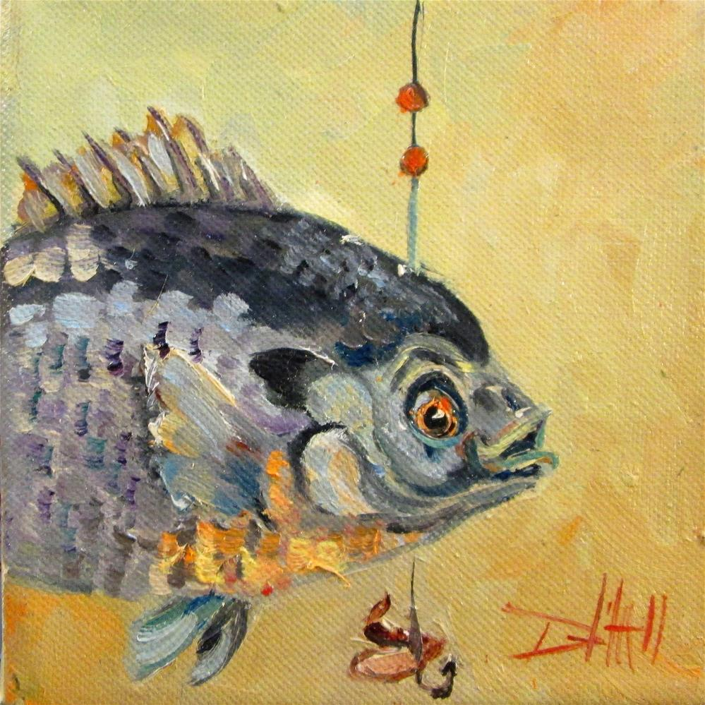 """Sunfish"" original fine art by Delilah Smith"