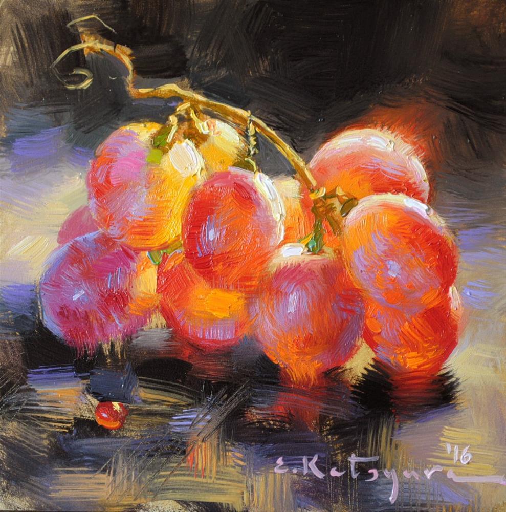 """Crimson Seedless"" original fine art by Elena Katsyura"