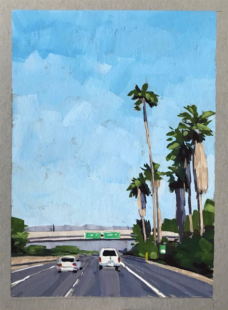 """Roadside Palms"" original fine art by Sharon Schock"