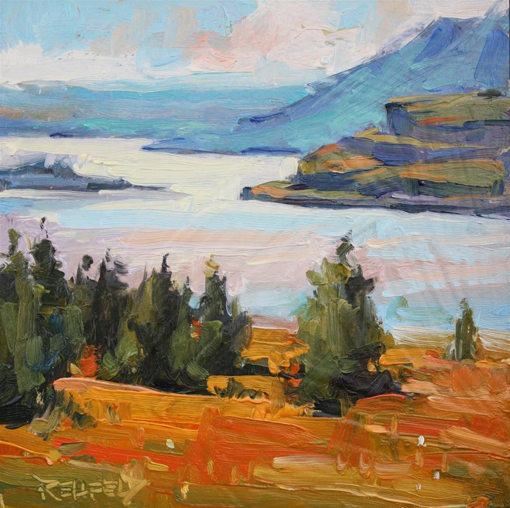 """""""Sunset Over the Oregon Desert"""" original fine art by Cathleen Rehfeld"""