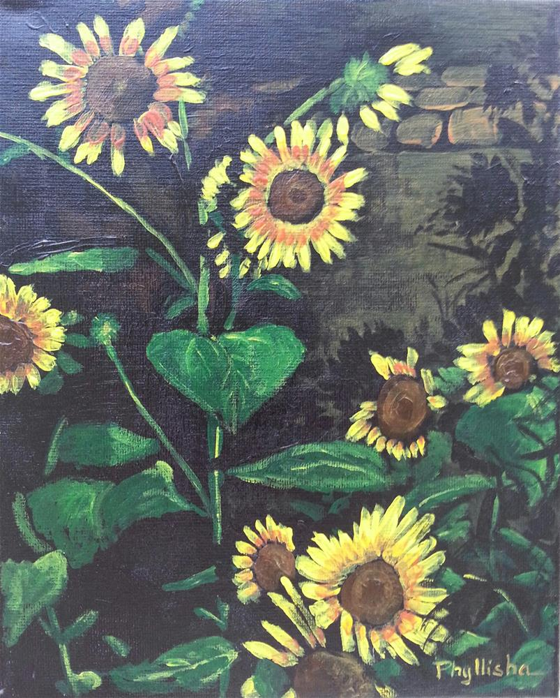 """Night Bloomers"" original fine art by Phyllisha Hamrick"