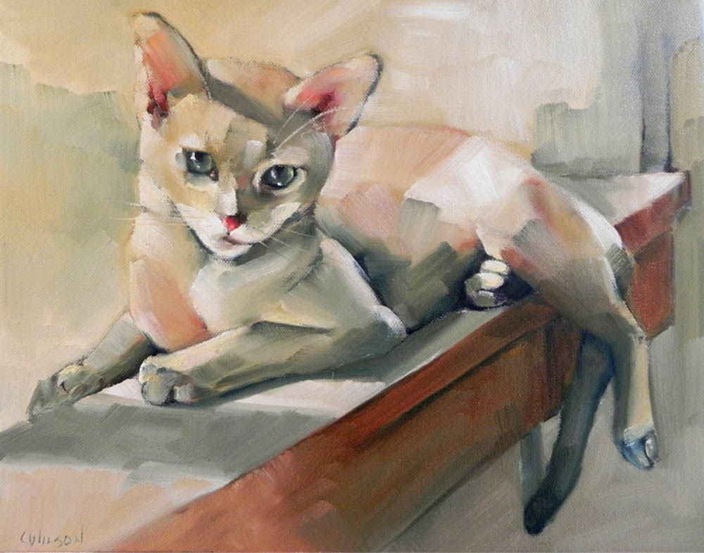 """Sunbath"" original fine art by Cheryl Wilson"