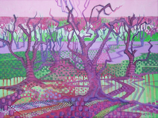 """Orchard Tapestry"" original fine art by Nancy Roberts"