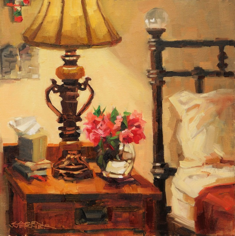 """Bedside Camellias"" original fine art by Karen Werner"