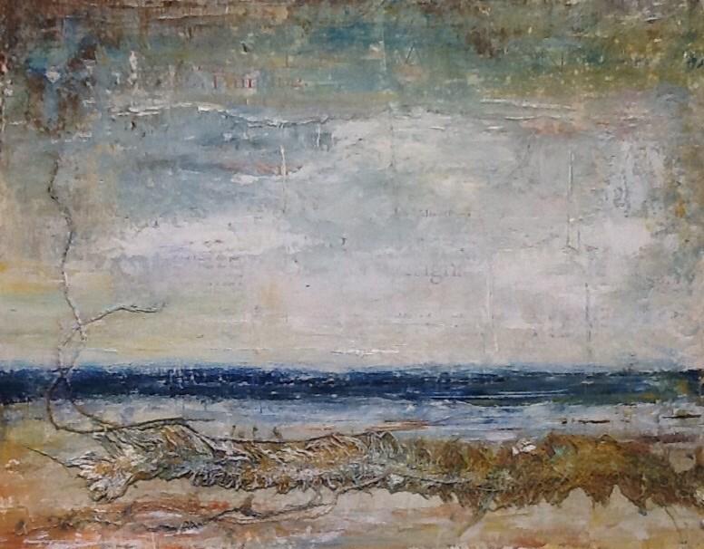 """Seaweed"" original fine art by Maureen Bowie"