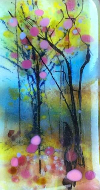 """spring forest"" original fine art by Kristen Dukat"