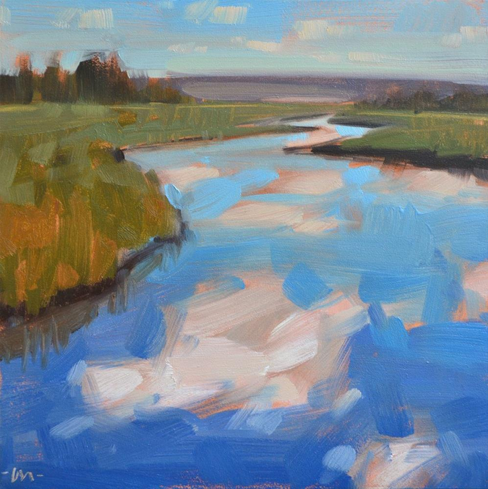 """Cloud River"" original fine art by Carol Marine"