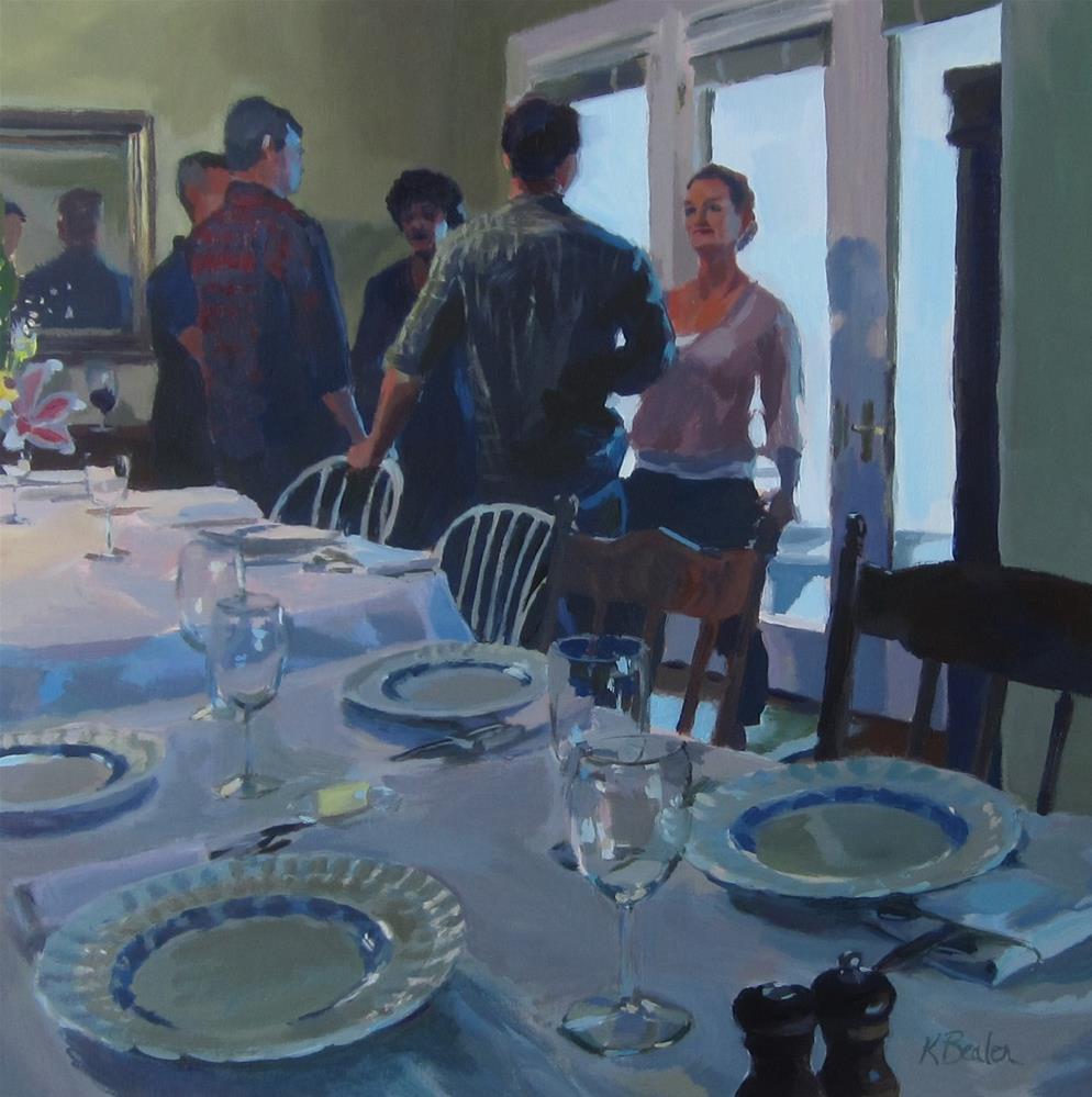 """""""Dinner Party"""" original fine art by Kaethe Bealer"""