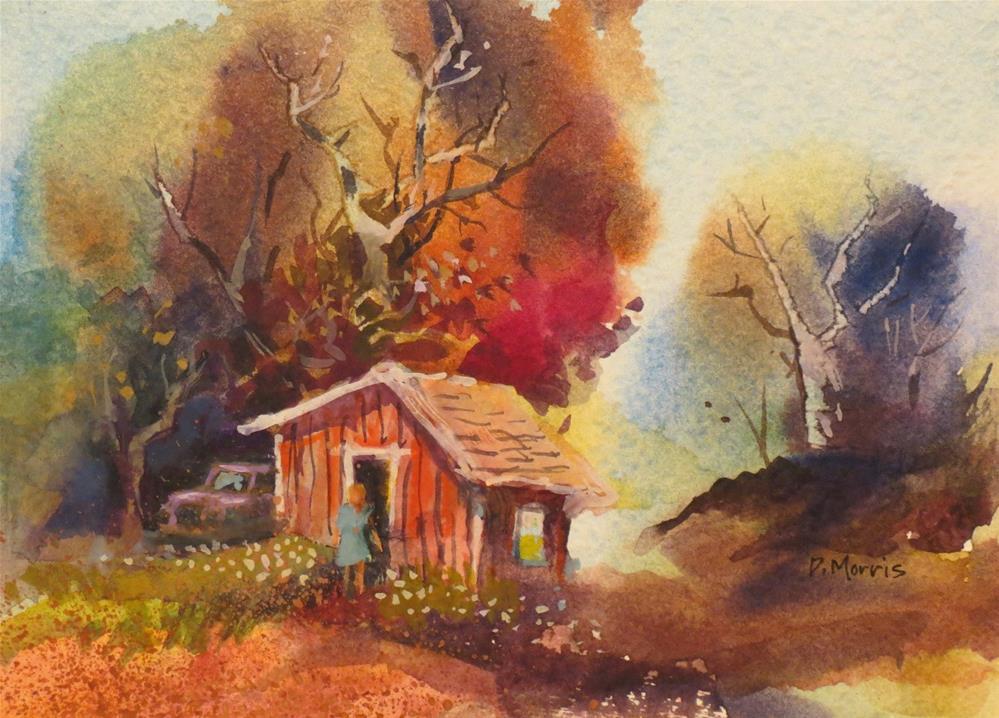 """The Little Red Shed"" original fine art by Dann Morris"