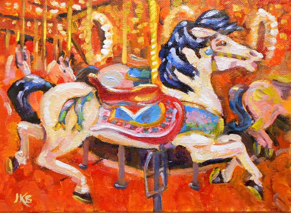 """""""Fancy Prance"""" original fine art by Jeanne Bruneau"""
