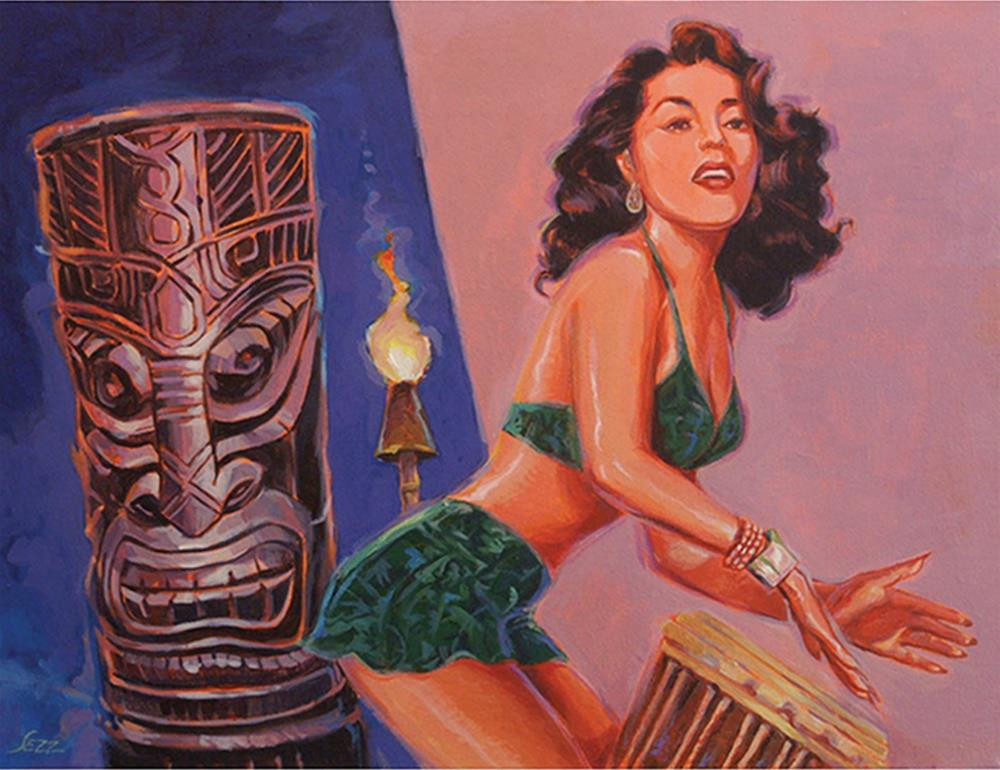 """""""She's Gone With The Hula Hula Boys"""" original fine art by Shawn Shea"""