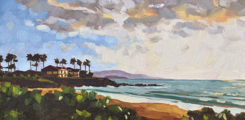 """Maui Sunset - 6x12"" original fine art by Sharon Schock"