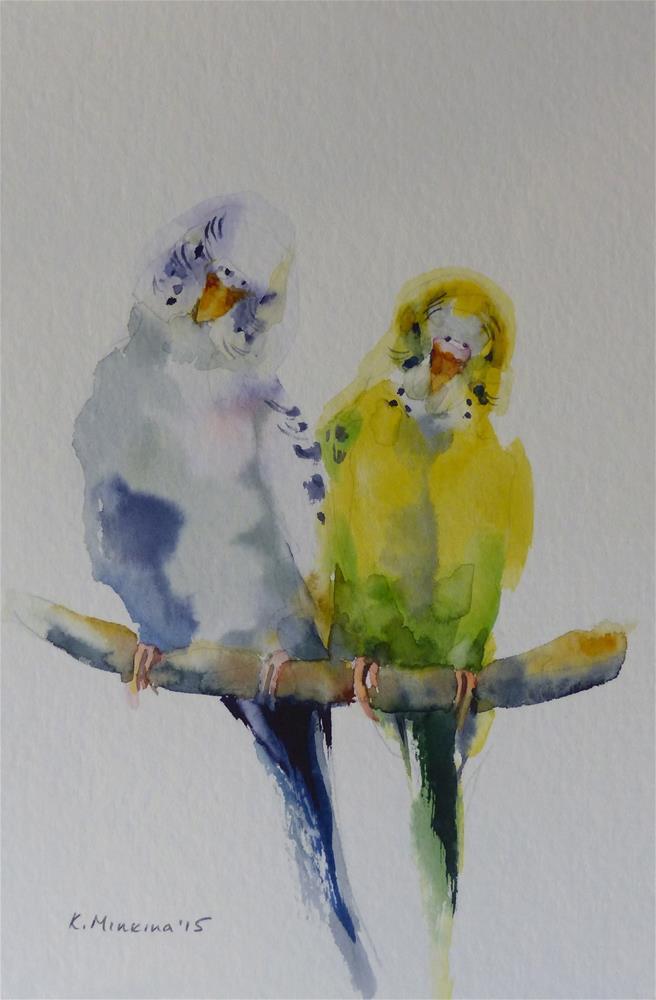 """budgie11"" original fine art by Katya Minkina"