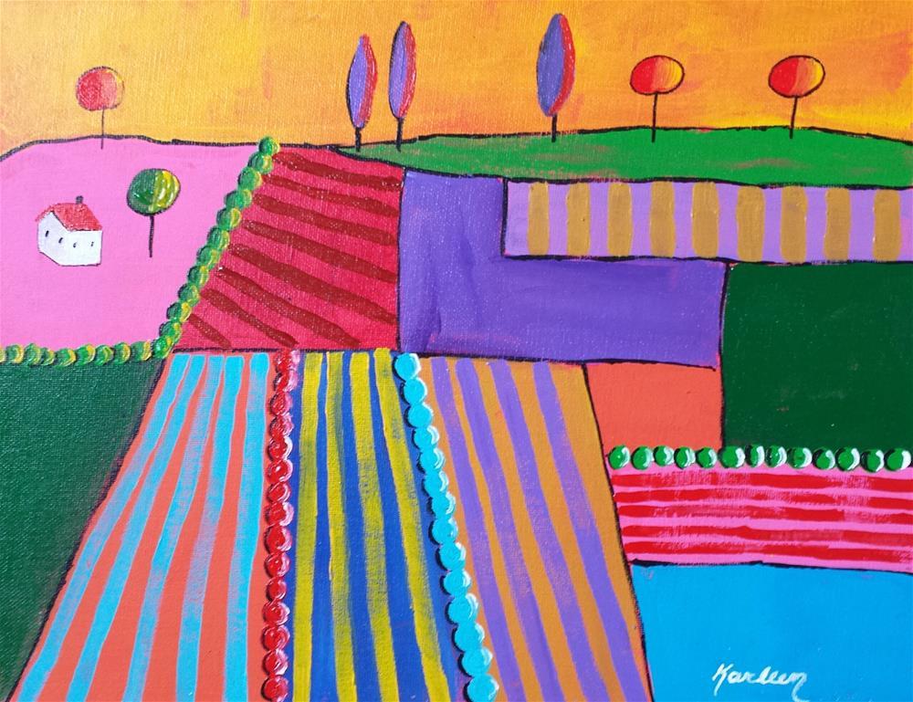 """Farm Land"" original fine art by Karleen Kareem"