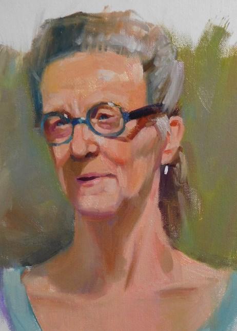 """""""Portrait class at PAG"""" original fine art by Kathy Weber"""