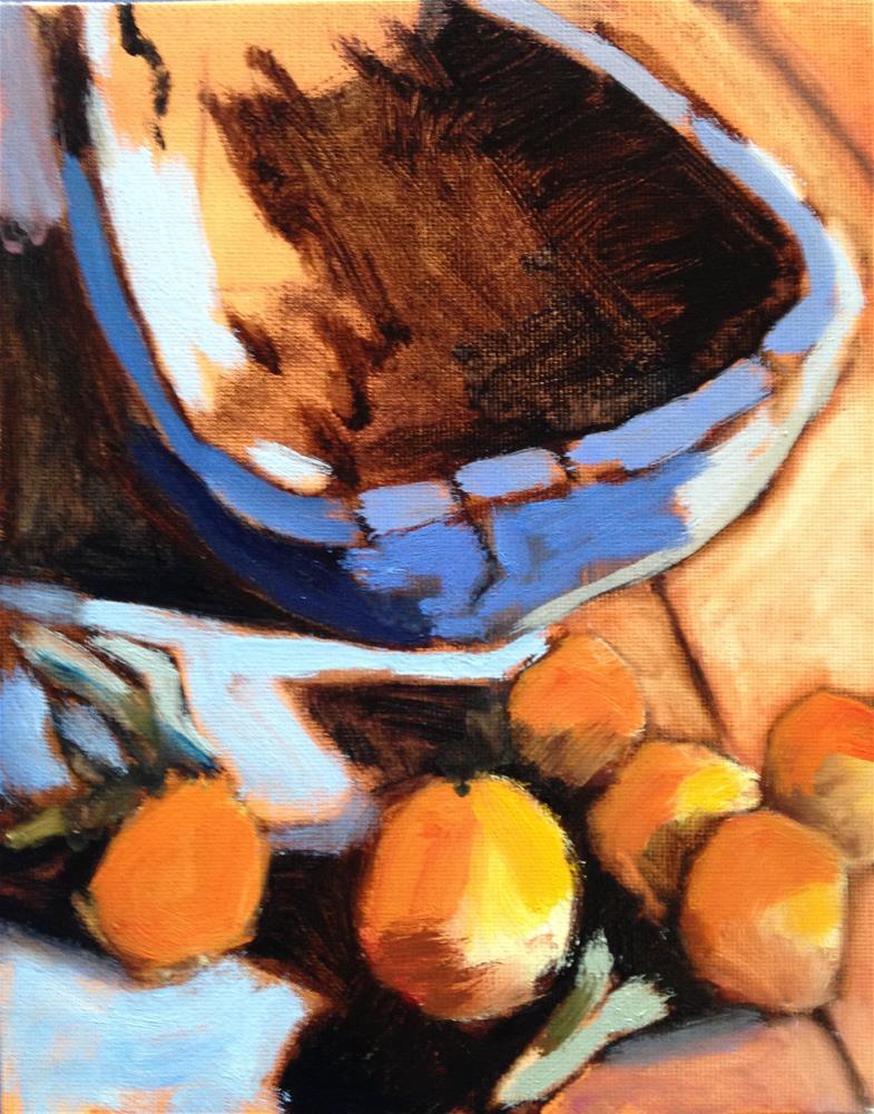 """""""Wood Wood Oranges"""" original fine art by Pamela Hoffmeister"""