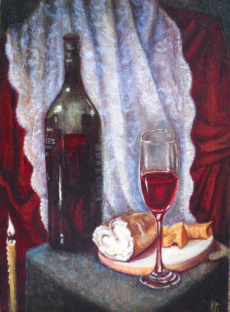"""Warrior's Red"" original fine art by Karen Roncari"
