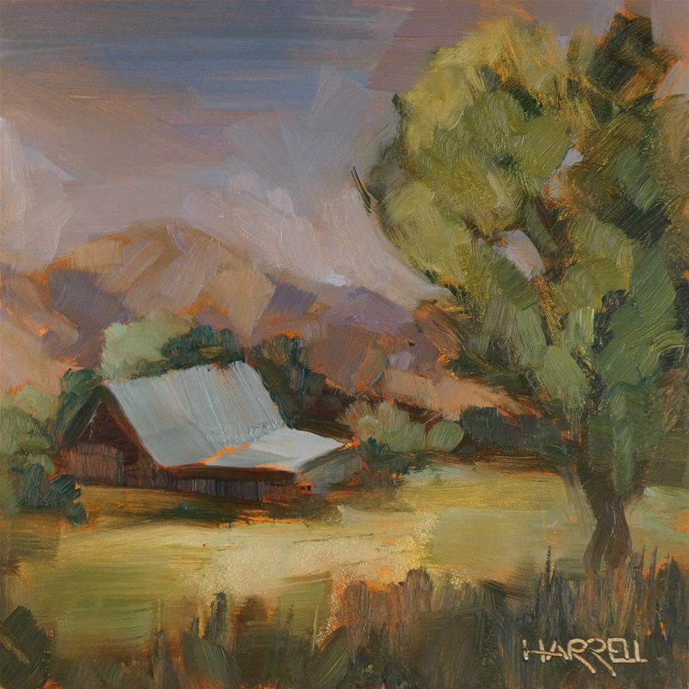 """Out Lorane Highway"" original fine art by Sue Harrell"