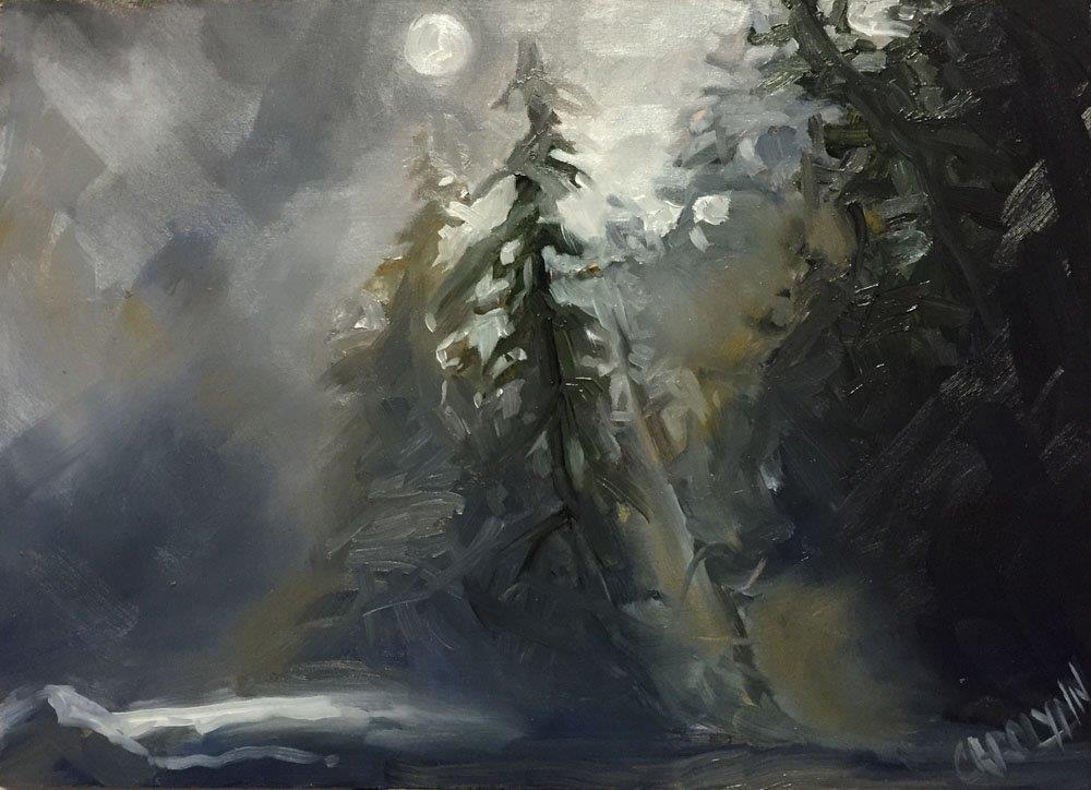 """""""Mist On The Trail Head"""" original fine art by Carolynn Doan"""