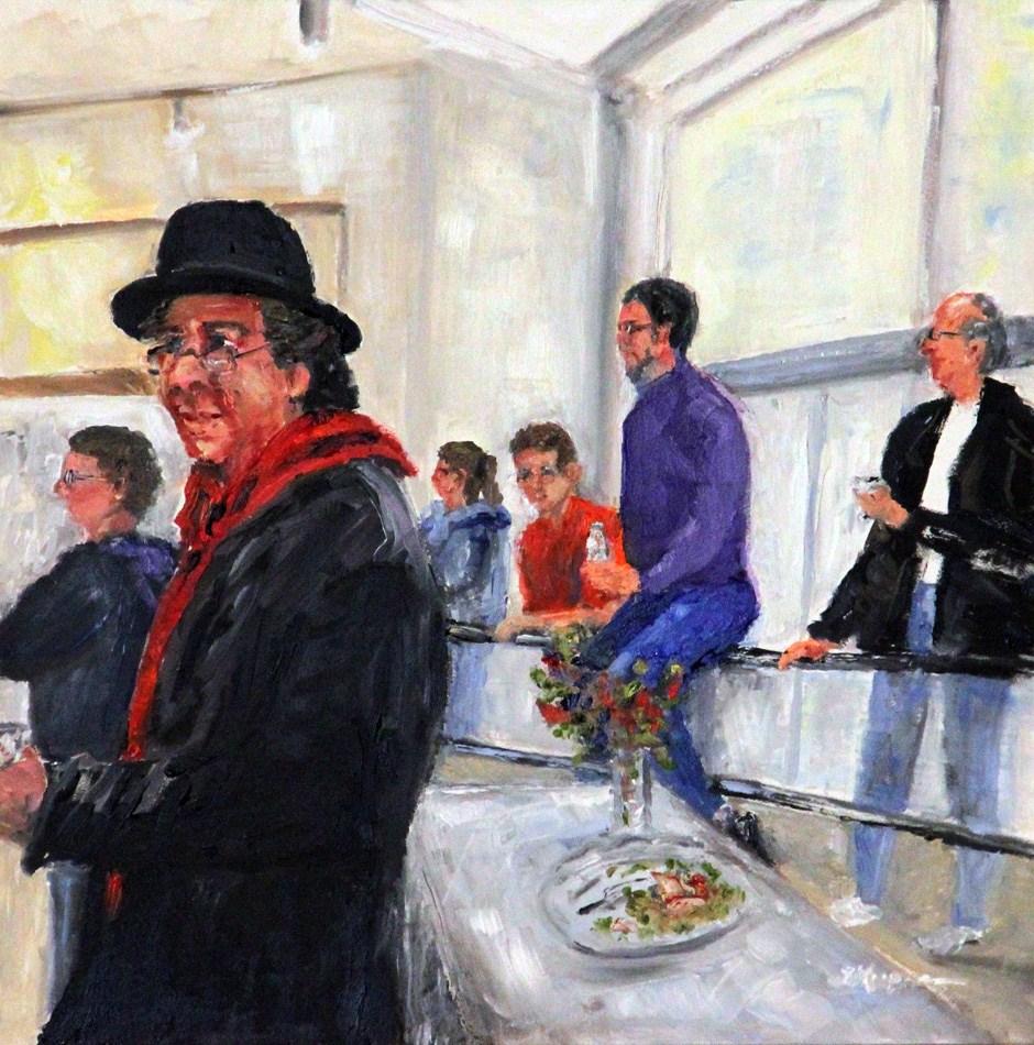 """Gallery Entertainment"" original fine art by Shelley Koopmann"