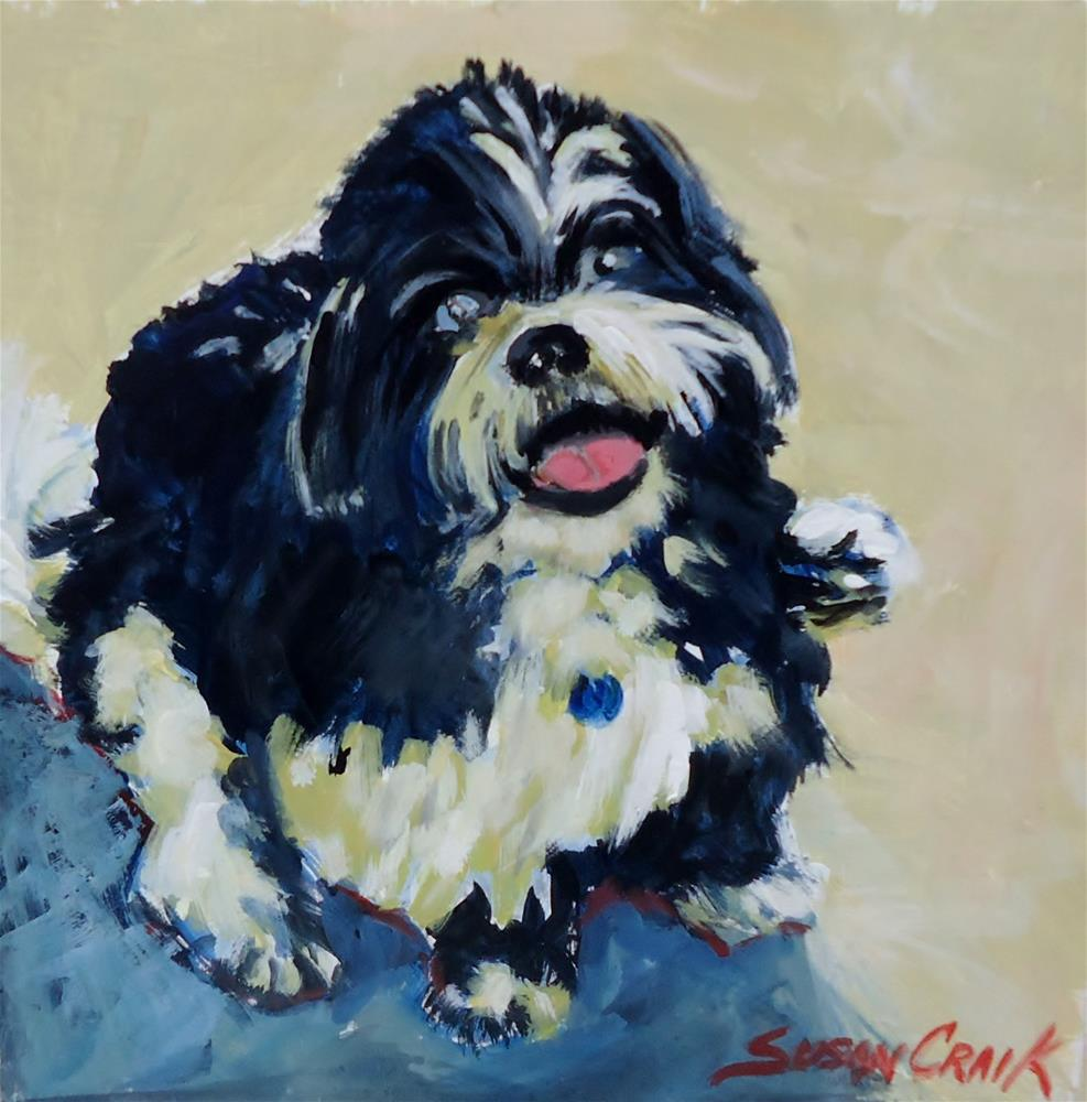 """Dexter"" original fine art by Susan Craik"