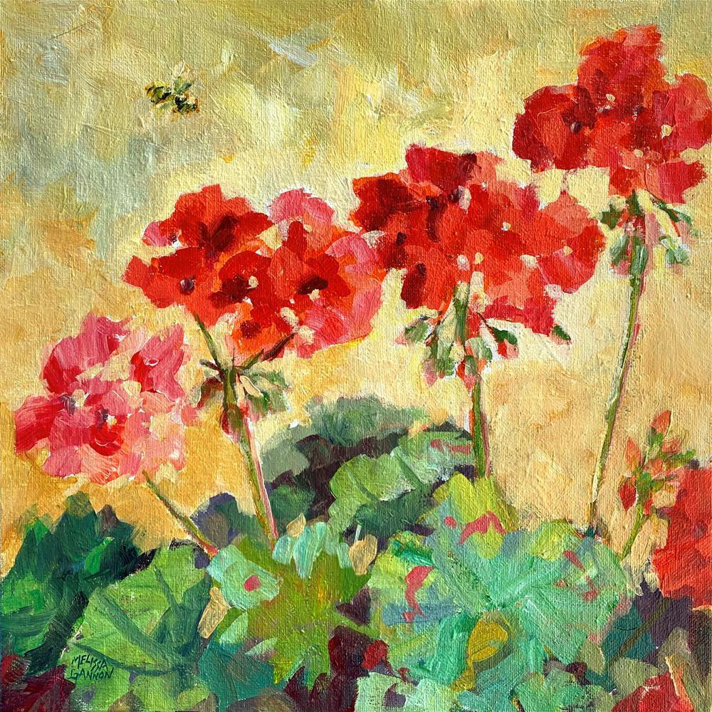 """Summer Geraniums"" original fine art by Melissa Gannon"