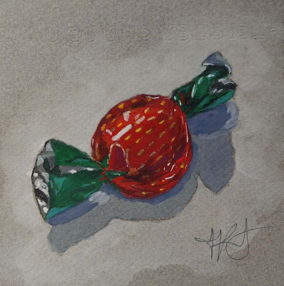"""Strawberry Candy"" original fine art by Jennifer Krentz"