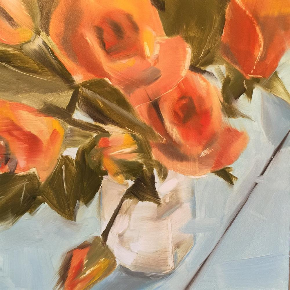"""221 Spray Roses"" original fine art by Jenny Doh"