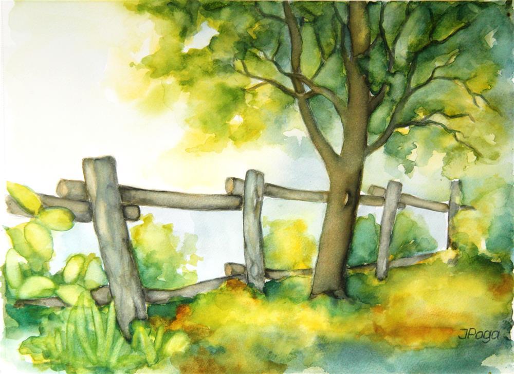 """Backyard tree"" original fine art by Inese Poga"