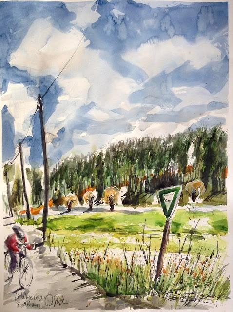 """""""1355 Favorite Path"""" original fine art by Dietmar Stiller"""
