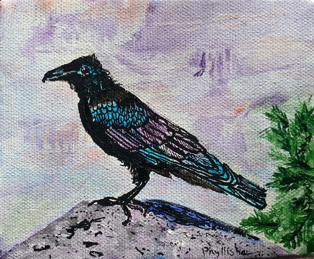 """Raven"" original fine art by Phyllisha Hamrick"