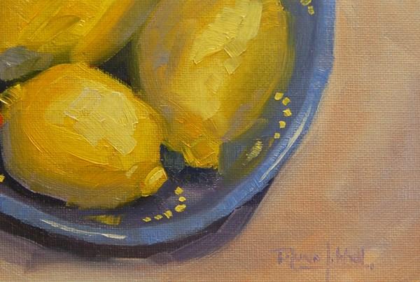 """No 666 Three Lemons"" original fine art by Robin J Mitchell"