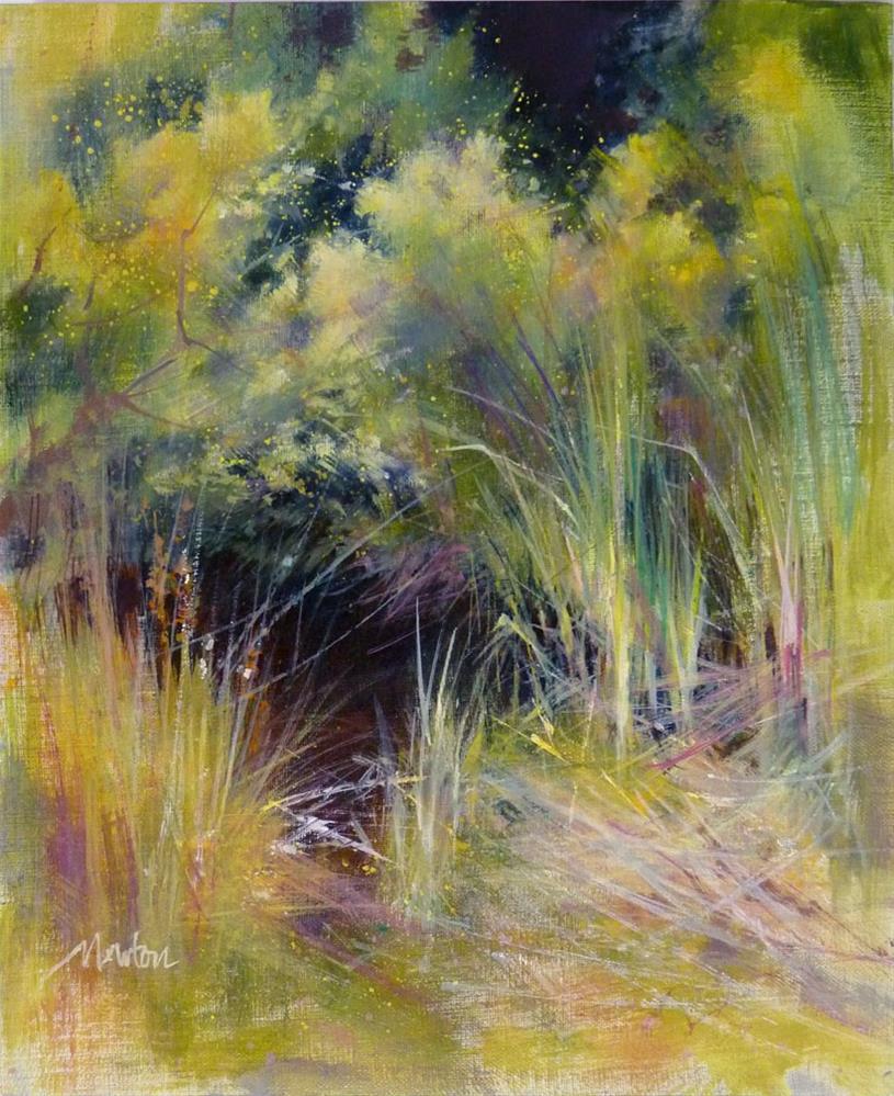 """""""Sub Rosa"""" original fine art by Barbara Benedetti Newton"""