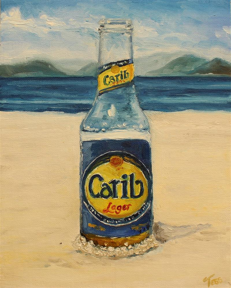 """The Sun...The Sand...The Beer"" original fine art by Tess Lehman"