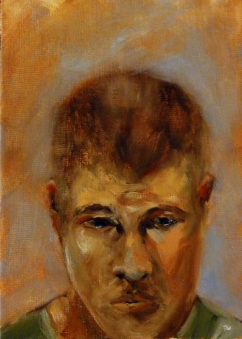 """Black Friday Brandon Portrait"" original fine art by Dalan Wells"