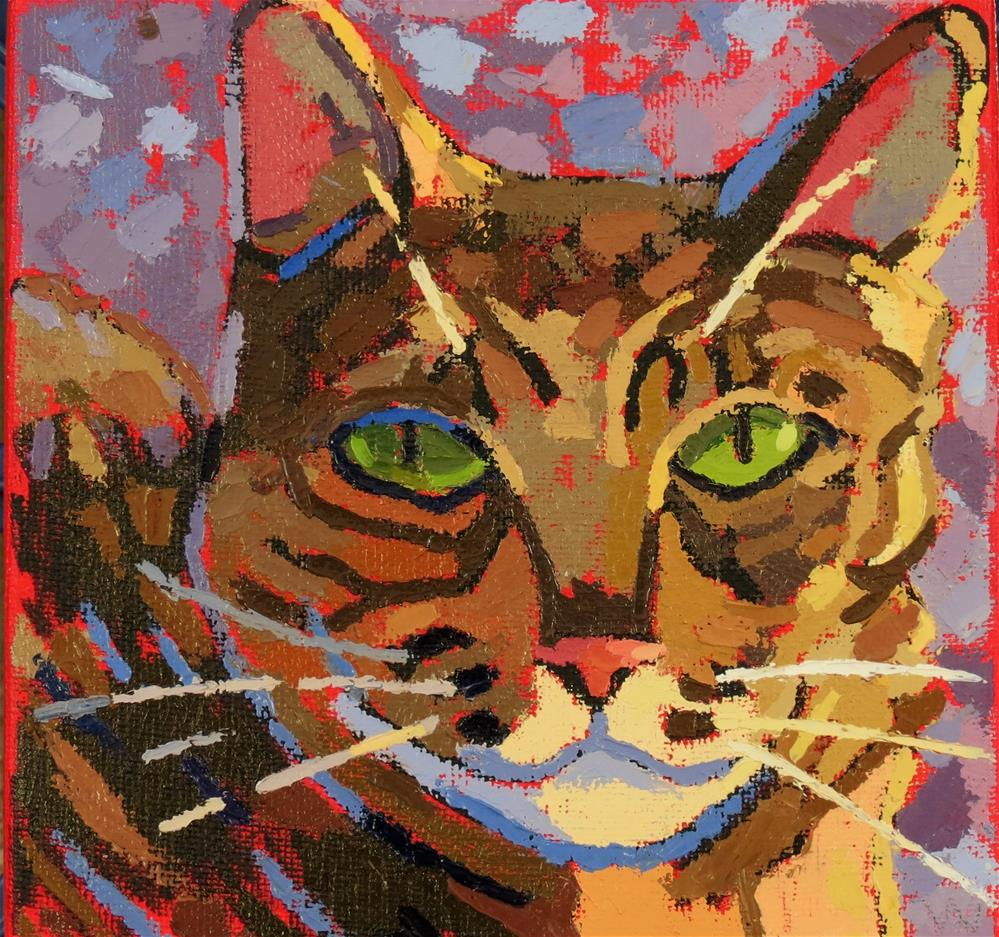 """Cat Number One"" original fine art by Joan Wiberg"
