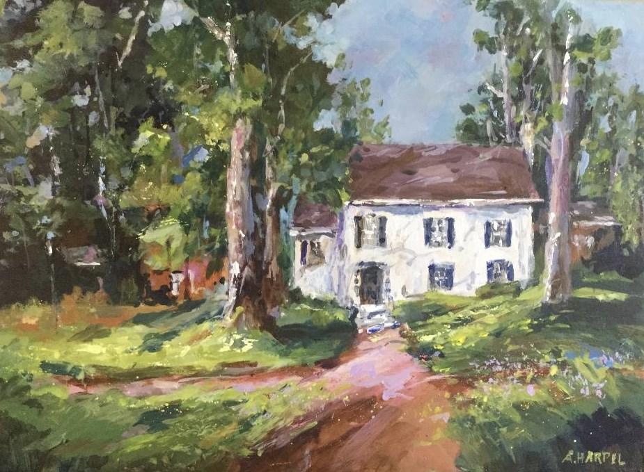 """Wabash College Caleb Mills House Indiana Landscape"" original fine art by Alice Harpel"