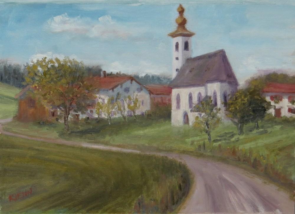 """Chapel at Tettelham"" original fine art by Richard Kiehn"