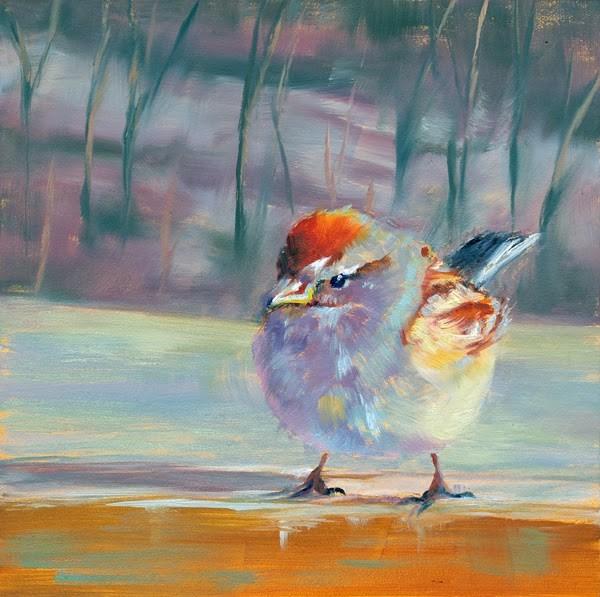 """A Little Bird Told Me"" original fine art by Brenda Ferguson"