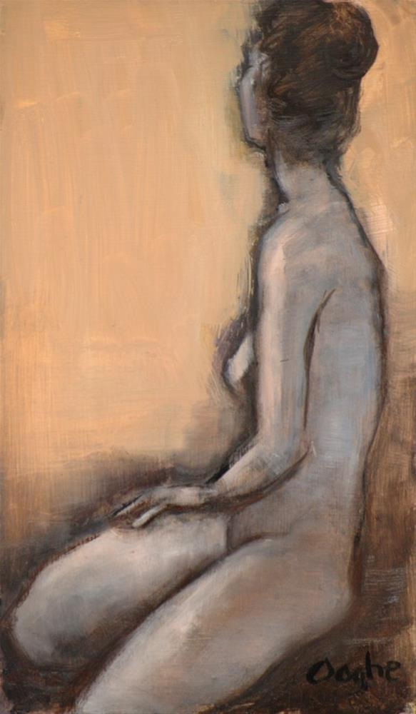 """Nude Facing Away"" original fine art by Angela Ooghe"
